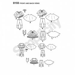 8193  Simplicity Pattern: Babies Costume
